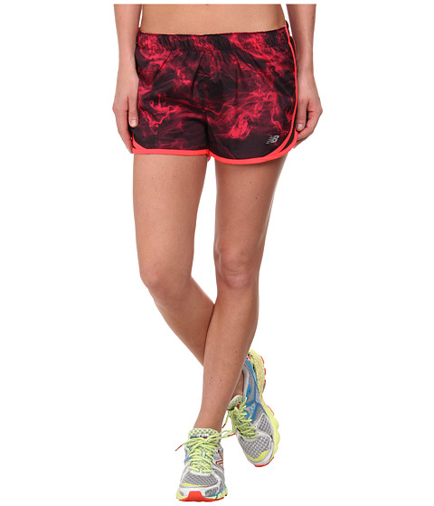 New Balance - Accelerate Short Graphic (Bright Cherry/Fiji) Women's Workout