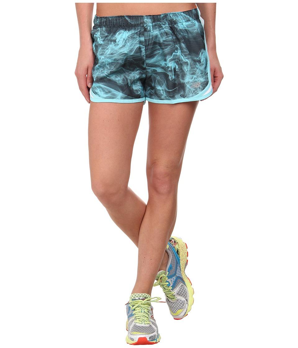 New Balance - Accelerate Short Graphic (Seaspray/Bold Citrus) Women's Workout