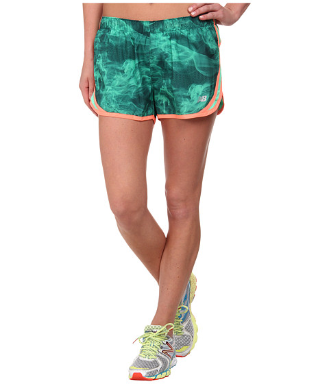 New Balance - Accelerate Short Graphic (Vital Green/Fiji) Women's Workout