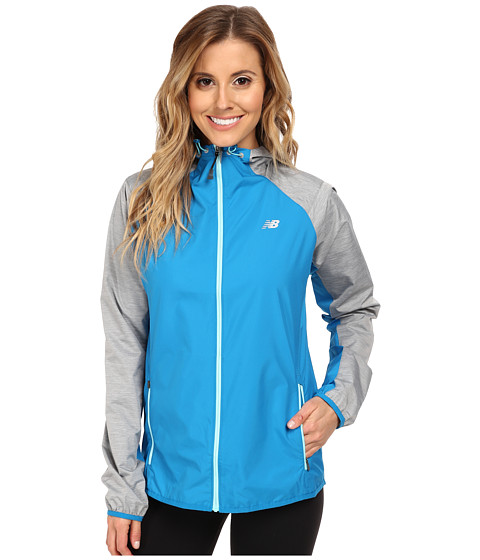 New Balance - Surface Run Jacket (Wave Blue/Anthracite Heather) Women's Workout