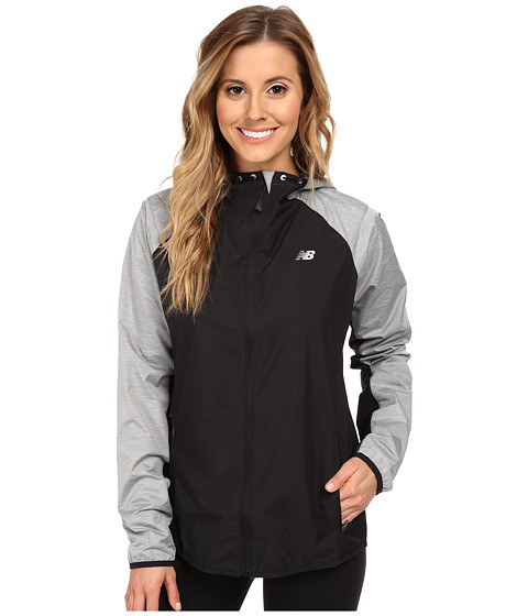 New Balance - Surface Run Jacket (Black/Grey/Anthracite Heather) Women's Workout