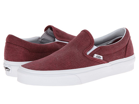 Vans - Classic Slip-On ((Washed) Pomegranate) Skate Shoes