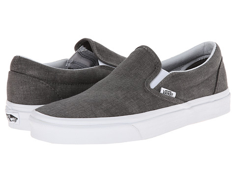 Vans - Classic Slip-On ((Washed) Pewter) Skate Shoes