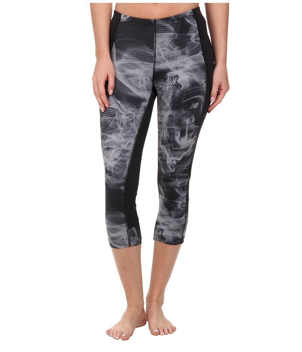 New Balance - Accelerate Printed Capri (Black/Grey) Women
