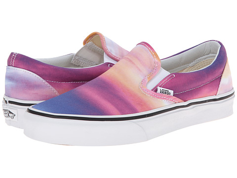 Vans - Classic Slip-On ((Sunset) Purple/True White) Skate Shoes