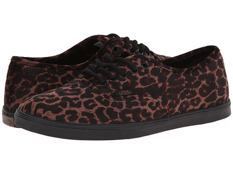 Vans - Authentic Lo Pro ((Suede Leopard) Black/Black) Skate Shoes