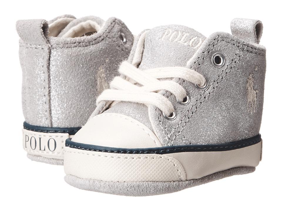 Polo Ralph Lauren Kids - Sag Harbour Hi (Infant/Toddler) (Silver Vintage Suede) Girls Shoes