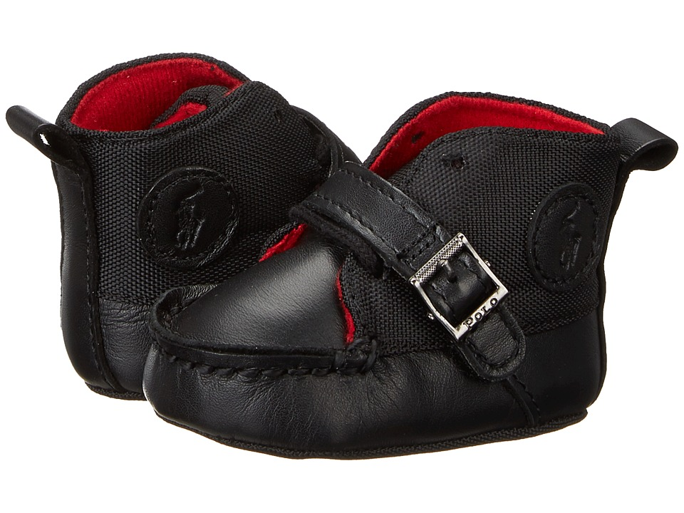 Polo Ralph Lauren Kids - Ranger Hi (Infant/Toddler) (Black Leather/Nylon) Boy's Shoes