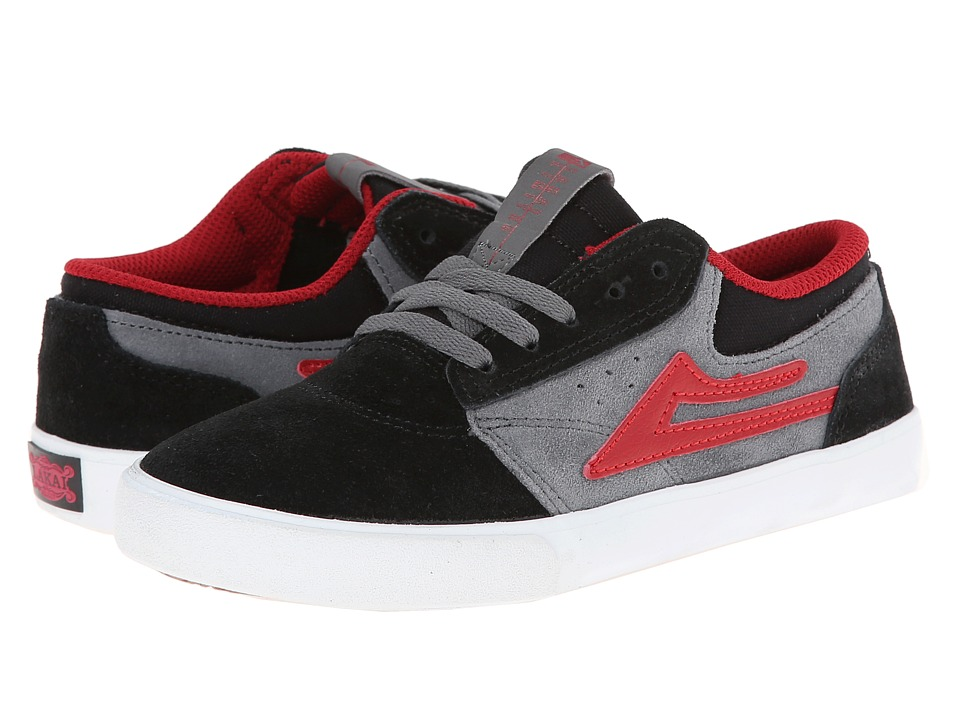 Lakai - Griffin (Little Kid/Big Kid) (Black/White Suede) Men's Skate Shoes