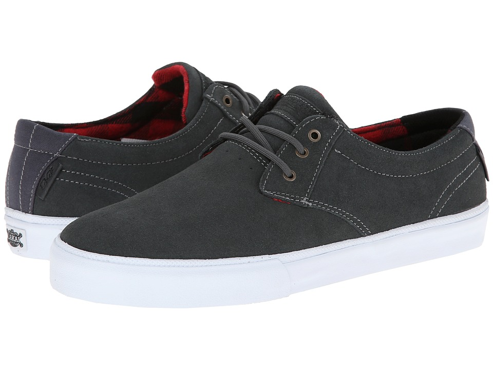 Lakai - M.J. (Grey/Red Suede) Men's Skate Shoes