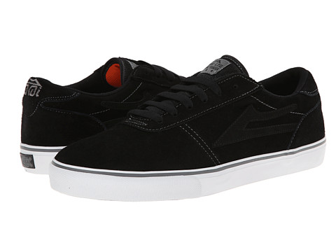 Lakai - Manchester Select (Black/Black/Grey Suede) Men's Skate Shoes
