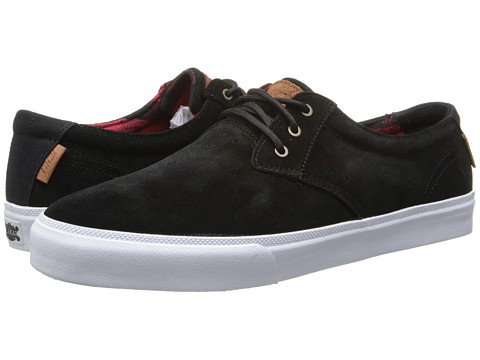 Lakai - M.J. (Black/Red Suede) Men's Skate Shoes