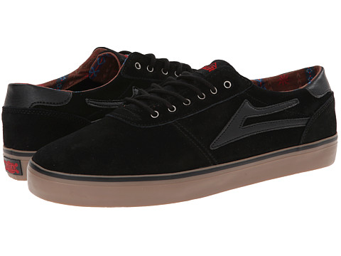Lakai - Manchester Lean (Black/Gum Suede) Men's Skate Shoes