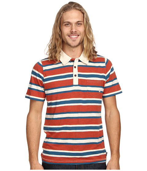 Quiksilver - Altos Polo (Burnt Brick) Men's Short Sleeve Pullover