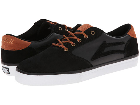 Lakai - Pico (Black/Orange Suede) Men's Skate Shoes