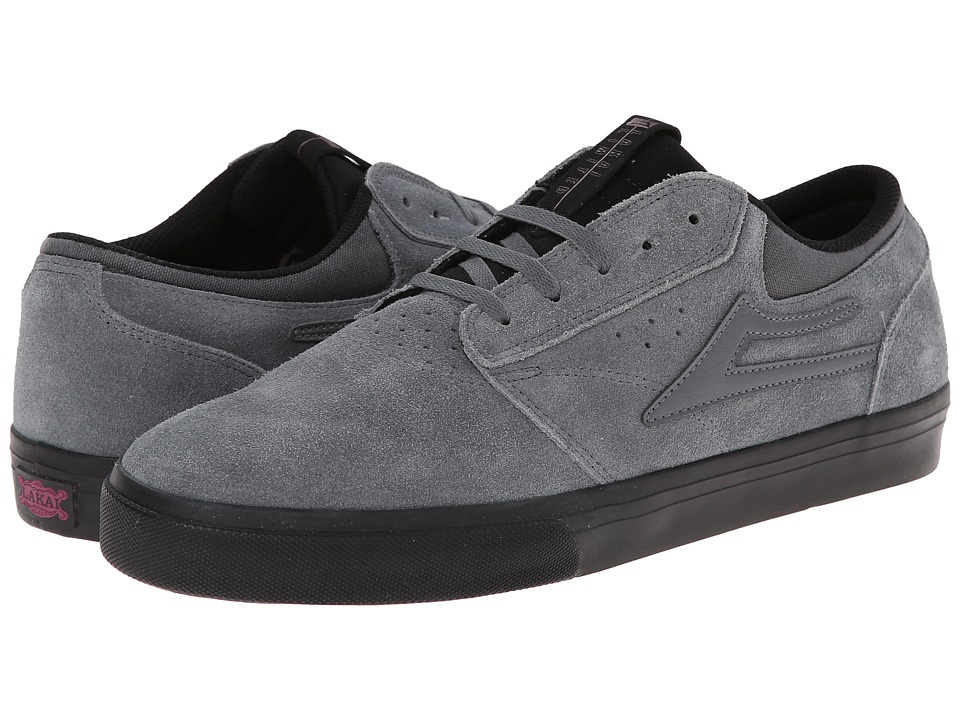 Lakai - Griffin (Grey/Black Suede) Men's Skate Shoes