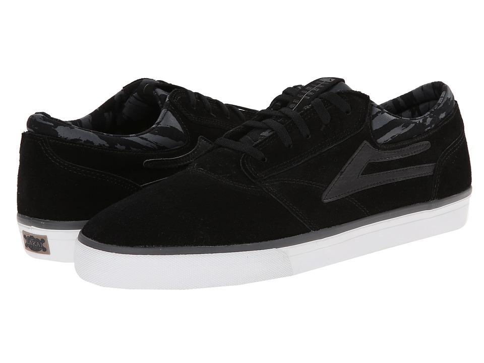 Lakai - Griffin (Black/Grey/Camo Suede) Men's Skate Shoes
