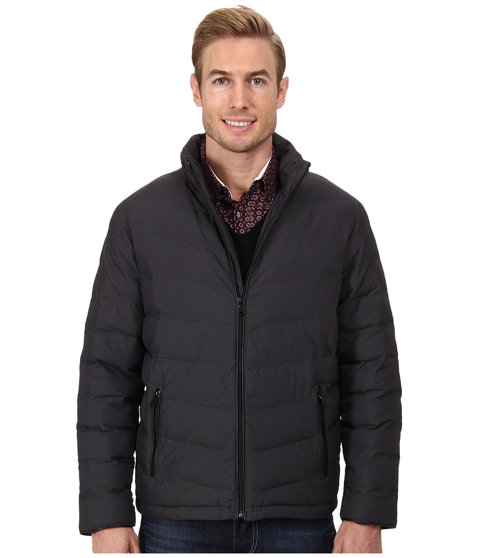 Elie Tahari - Quilted Bomber (Charcoal) Men