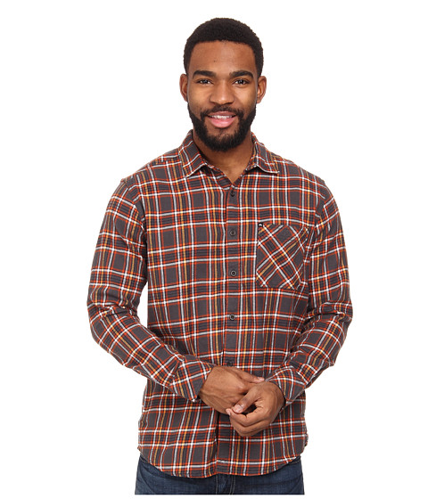 Quiksilver - Charad Flannel (Gunsmoke) Men's Long Sleeve Button Up
