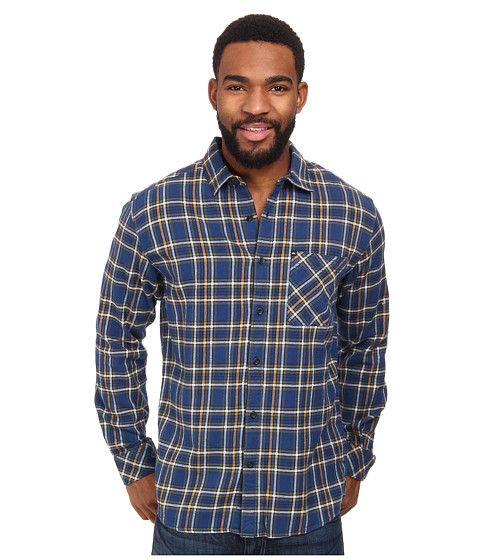 Quiksilver - Charad Flannel (Estate Blue) Men's Long Sleeve Button Up