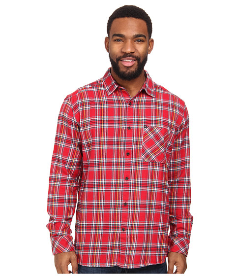 Quiksilver - Charad Flannel (Quikred) Men's Long Sleeve Button Up