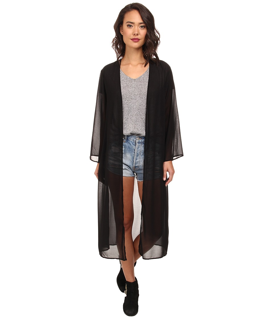 Brigitte Bailey - Bread Butter Kimono (Black) Women's Clothing