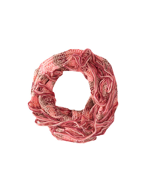 BCBGeneration - Cozy Striped Loop (Dusty Rose) Scarves