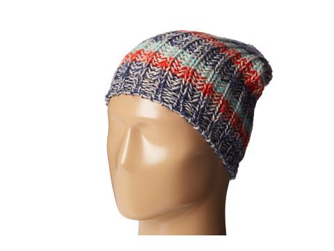 BCBGeneration - Cozy Stripe Hat with Pom (Blue Surf) Caps