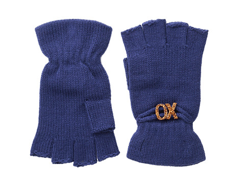 BCBGeneration - Affirmation Fingerless Gloves (Blue Night) Lace Gloves