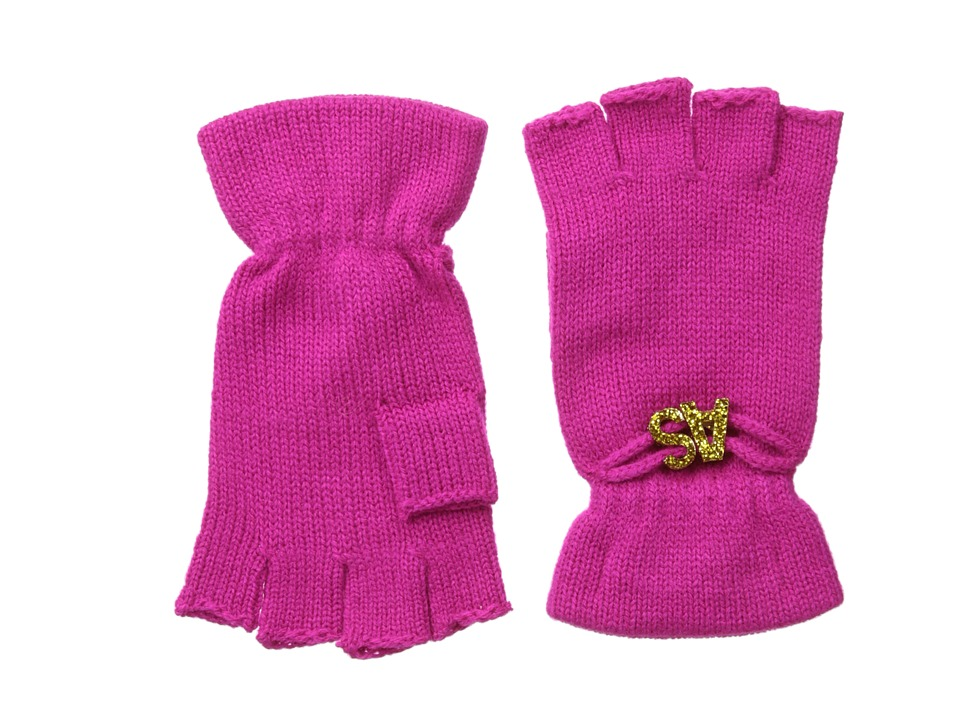 BCBGeneration - Affirmation Fingerless Gloves (Fuchsia) Lace Gloves