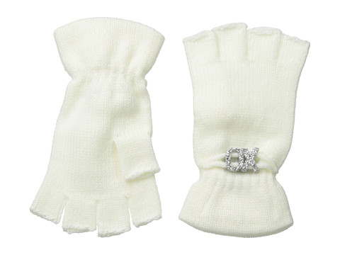 BCBGeneration - Affirmation Fingerless Gloves (Pure White) Lace Gloves