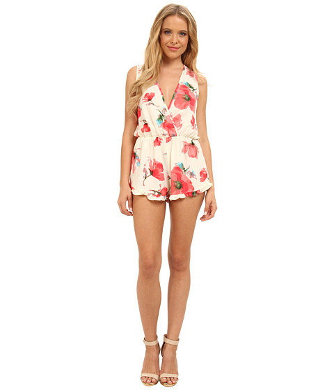 Gabriella Rocha - Garden Flower Romper with Ruffle Shorts (Ivory) Women