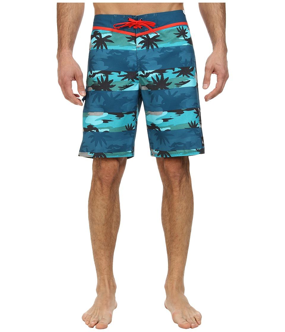 Quiksilver - Brigg Camo Boardshort (Moroccan Blue) Men's Swimwear