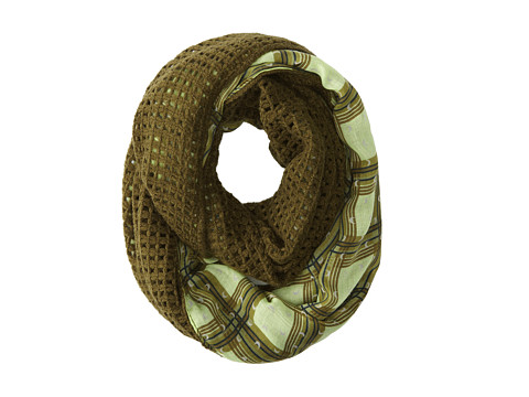 BCBGeneration - Moonshine Knit to Print Loop (Cadet) Scarves