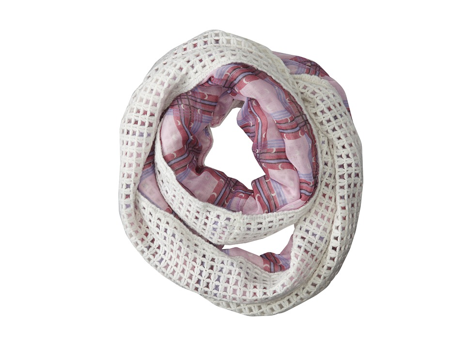 BCBGeneration - Moonshine Knit to Print Loop (Pure White) Scarves