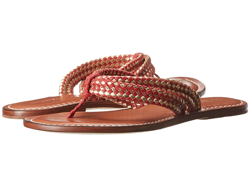 Bernardo - Miamiwoven (Red Nap/Old Gold Calf) Women's Sandals