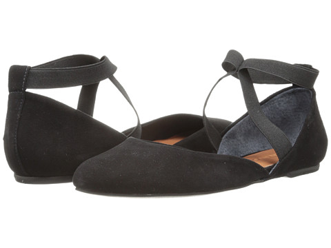 Bernardo - Sydney (Black Suede) Women's Flat Shoes