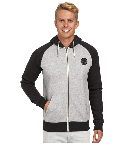 Quiksilver - Major Raglan (Dark Grey Heather) Men's Clothing