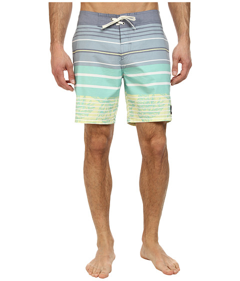 Quiksilver - Massive Stripes Boardshort (Washed Navy) Men's Swimwear