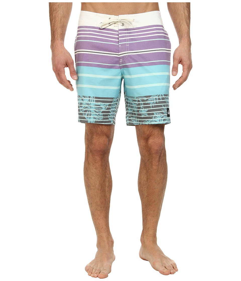 Quiksilver - Massive Stripes Boardshort (White) Men's Swimwear