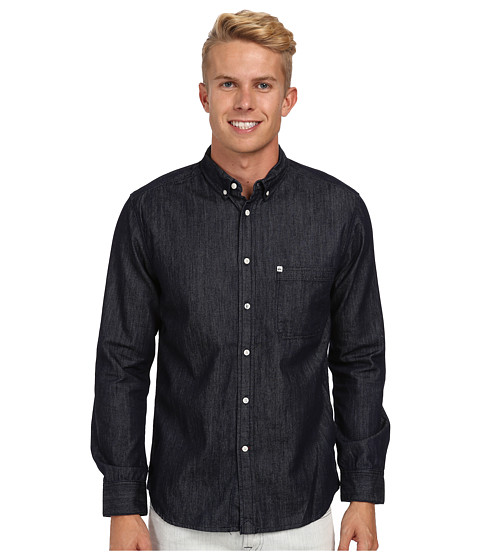 Quiksilver - Gadfly L/S Woven (Navy Blazer) Men's Clothing