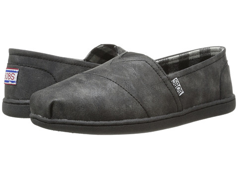 BOBS from SKECHERS - Bobs Bliss - Tip Top (Black/Black) Women's Flat Shoes