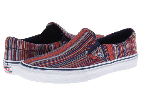 BOBS from SKECHERS - The Menace - Sand Dune (Navy/Multi) Women's Slip on Shoes