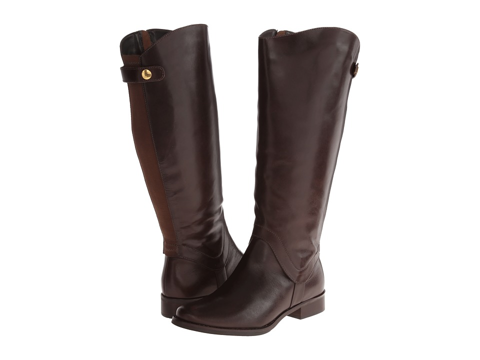 Steven - Sady Wide Calf (Brown Leather) Women