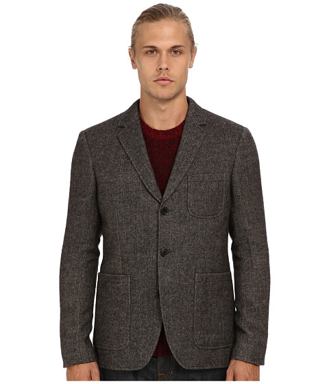 Vince - Herringbone Wool Blazer (Brown) Men's Jacket
