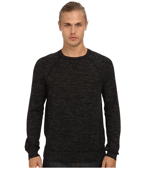 Vince - L/S Raglan Crew Sweater (Black) Men's Sweater