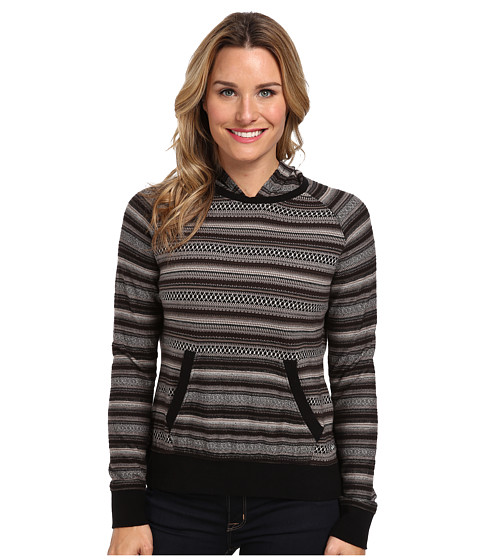 Woolrich - Mile Run Knit Hoodie (Black) Women's Sweater
