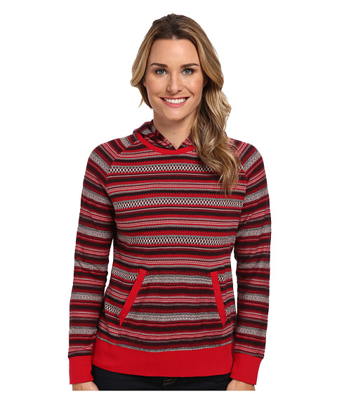 Woolrich - Mile Run Knit Hoodie (Cherry Red) Women