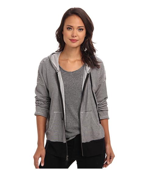 Splendid - Boxy Zip Hoodie (Sand Dollar) Women's Sweatshirt