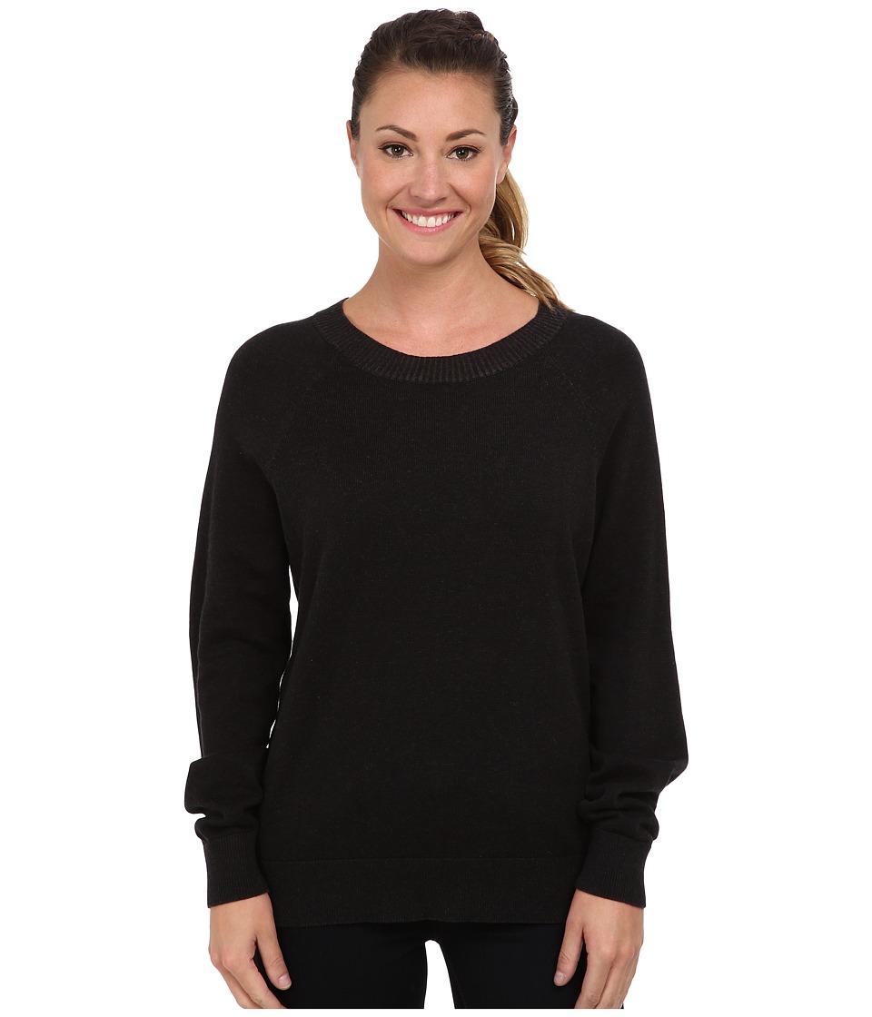 Woolrich - Plum Run Open Neck Crew Sweater (Black) Women
